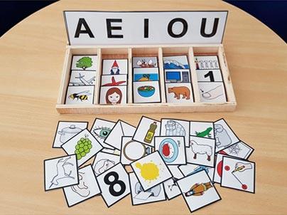 Кутија за материјали-на која буква започнува?